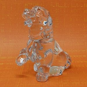 Vintage Princess House Crystal Dog Figurine